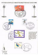 26893. Tarjeta ESSEN (Alemania Federal) 1988. Briefmarken Essen - [7] República Federal