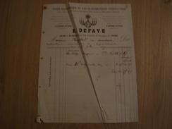 FACTURE E. DEFAYE BLANCHISSERIE 30 RUE DES FOSSES SAINT GEORGES TOURS 1874 - France