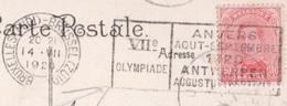 OLIMPIADI  BELGIO 1920 ANNULLO PROPAGANDA OLIMPICA SU CARTOLINA DA BRUXELLES A OSTENDE IN DATA 14/7/1920 - Estate 1924: Paris