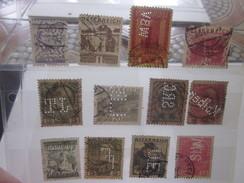 12 Timbres Autriche Osstereich Perforés Perforé Perforés Perfin Perfins Stamp Perforated Perforation Diverse Voir Scann - Österreich