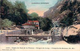 CPA (06) Ligne Du Sud De La France Gorges Du Loup Chapelle St-Arnoux (animée) M1174 - Autres Communes