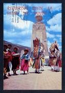 Ecuador. Quito. *Danza Folklórica Junto A La Linea Equinoccial...* Circulada 1984. - Ecuador
