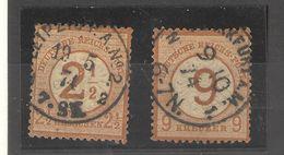 Allemagne _ Timbres De 1872_  2/9 (1874)   N° 28/29 - Oblitérés