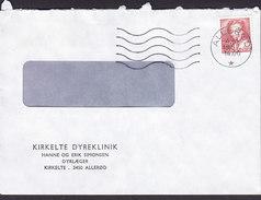 Denmark KIRKELTE Dyreklinik Veterinarian Doctors ALLERØD 1987 Queen Margrethe II Cz. Slania Stamp - Briefe U. Dokumente
