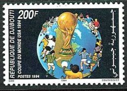 DJIBOUTI MICHEL 601 MNH** FOOTBALL SOCCER WORLD CUP 1994 - Djibouti (1977-...)