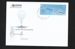 ARGENTINA 2008 The 100th Anniversary Of The Aero Club Argentino   BOOKLET & FDC - Booklets
