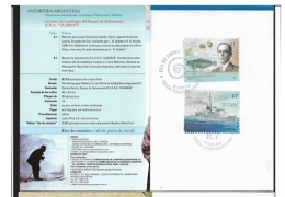 ARGENTINA 2008 Antarctic Pioneers   BOOKLET  Luciano-Honorato Valette -A.R.A. Guarani Rescue Ship - Booklets