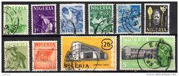 NIGERIA 1961 Definitives 10 Values Used - Nigeria (1961-...)