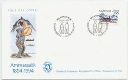 GREENLAND 1994 Centenary Of Ammassalik On FDC.  Michel 245 - FDC