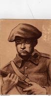 Illustrateur P. Remy Guerre 1939-1945, Soldat Tenant Son Fusil Et Fumant La Pipe - War 1939-45