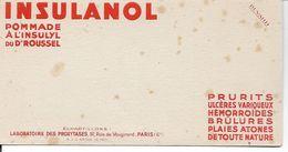 Buvard Insulanol. Prurits, Ulcères, Hémorroïdes, Brûlures, Plaies, .... (Médicaments, Pharmacie). - Produits Pharmaceutiques