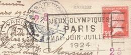 OLIMPIADI  PARIS 1924 ANNULLO PROPAGANDA OLIMPICA SU CARTOLINA DA PARIS A GOTEBORG IN DATA 1/3/1924 - Estate 1924: Paris