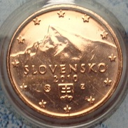 ===== 1 Cent Slovaquie 2010 Sorti D'1 BU Mais Un Peu Oxydé ===== - Eslovaquia