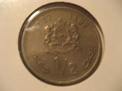 1/2 1987 MOROCCO Coin Maroc Marruecos - Morocco