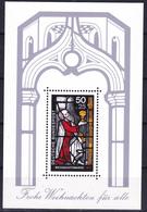 Bloc Feuillet Neuf** De 1 Timbre-poste - Noël Vitrail De La Basilique Saint-Gereon à Cologne - BF 14 (Yvert) - RFA 1977 - [7] Federal Republic