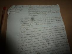 1816 Garde Des Sceaux,sur Plainte D'adjoint,au Procureur Du ROI,pour Assignation Comme Témoins Sur Propos Séditieux,etc - Manuscrits