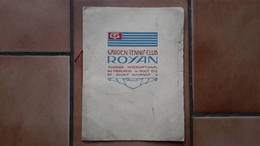 PROGRAMME ANCIEN - ROYAN 17 CHARENTE MARITIME - GARDEN TENNIS CLUB - TOURNOI 1912 - SPORT - Livres, BD, Revues