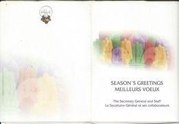 Scouting Postcard - . New Year / Bonne Annee EUROPEAN GUIDE AND SCOUT REGION 1996 - Pfadfinder-Bewegung