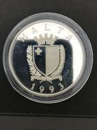 Malta 1993 Silver - Proof 10 Ecu 430 Jahre Belagerung Von Valetta, 25g Ag925 - Malta