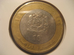 10 1995 MOROCCO Bimetallic Coin Maroc Marruecos - Morocco
