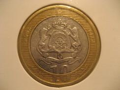 10 2002 MOROCCO Bimetallic Coin Maroc Marruecos - Morocco