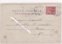 Cachet---le Blanc---indre---36---pour Paris - Marcophilie (Lettres)