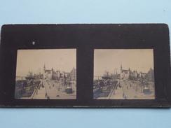 ANTWERPEN / ANVERS / ANTWERP / AMBERES Steen / Schelde & Steenplein ( Anno 19?? ) Stereo Photo ( Look For Detail ) ! - Stereoscopio