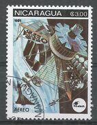 Nicaragua 1981. Scott #C989 (U) Space Communications, Satellites - Nicaragua