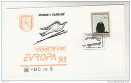 1993 ALBANIA FDC Stamps EUROPA , ART Cover - Albania