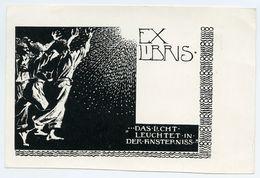 BOOKPLATE : EX LIBRIS - DAS LICHT LEUCHTET IN DER FINSTERNISS - Bookplates