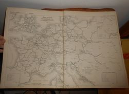 Plan De La Carte Générale Des Chemins De Fer Et Télégraphes électriques Européens. 1857. - Public Works