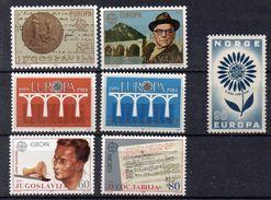 Lot De Timbres Neufs ** Europa Vers 1980 ( Ref 4882 ) Yougoslavie Norvège Madère Autriche - Voir 3 Scans - Sellos