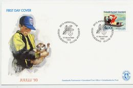 GREENLAND 1993 Christmas On FDC.  Michel 242 - FDC