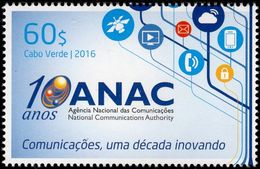 Cape Verde - 2016 - National Communications Authority 10th Anniversary - Mint Stamp - Cape Verde