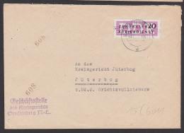 Senftenberg ZKD B15(6011) Kreisgericht Nach Jüterbog, Zentraler Kurierdienst Der DDR - [6] Oost-Duitsland