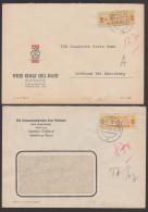 DDR ZKD B19A, H 2 Briefe, Mkn Vorschriftsmaessig Eingerissen, Krupp-Gruson, Zentraler Kurierdienst Der DDR - [6] Oost-Duitsland