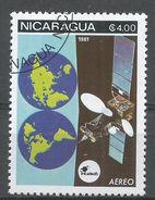 Nicaragua 1981. Scott #C990 (U) Space Communications, Satellites - Nicaragua
