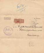 """INDONESIEN, BANDOENG 1924 (niederländisch Indien) - Dokument """"Dienstpflicht"""" Als Reco Faltbrief Gel.1924 Stempel BANDOEN - Indonesien"""