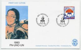 GREENLAND 1993 Year Of Indigenous Peoples On FDC.  Michel 230 - FDC
