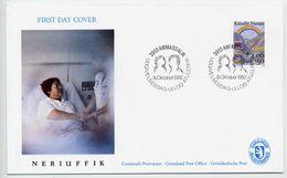 GREENLAND 1992 Anti-cancer Campaign On FDC.  Michel 228 - FDC