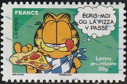 Francia 2008 Yvert 4273 Sello º Comics El Gato Gardfield Comiendo Pizza France Stamps Timbre Frankreich Briefmarke - Francia