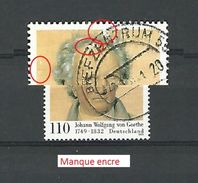 * 1999  N° 1901  JOHANN WOLFAN VON GOETHE OBLITÉRÉ TB - BRD