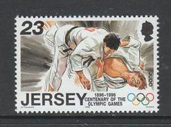 TIMBRE NEUF DE JERSEY - JUDO (CENTENAIRE DES JEUX OLYMPIQUES) N° Y&T 737 - Judo