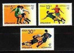 BULGARIA / BULGARIE - 1982 - W.Foot.Cup - Espana Mi.No 3100/02 MNH - Bulgarie