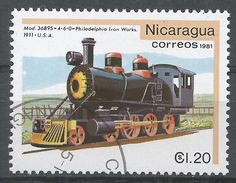 Nicaragua 1981. Scott #1135 (U) Vulcan Iron Works 1911, Locomotive - Nicaragua