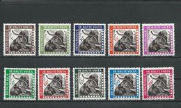 HAUTE-VOLTA  Scott O1-O10 Yvert Service 1-10 (10) * Et ** Cote 15,50$ 1963 - Haute-Volta (1958-1984)
