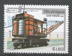 Nicaragua 1981. Scott #1136 (U) Hoist & Derriel 1909, Locomotive - Nicaragua