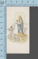 Netherland - Offrande De Fleurs Par Des Anges à L,enfant Jésus - Holy Card, Image Sainte Pieuse, Santini - Devotion Images