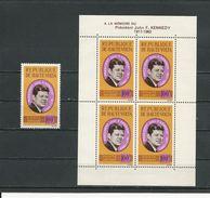 HAUTE-VOLTA  Scott C19, C19a Yvert PA19, BF2 (1+bloc) ** Cote 12,25$ 1964 - Haute-Volta (1958-1984)