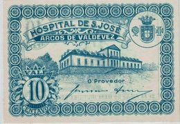 Portugal , Arcos De Valdevez , Emergency Paper Money , Token , Cédula , Notegeld , 10 Centavos , Hospital S. José - Coins & Banknotes